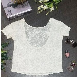 🚨FINAL PRICE🚨I Love H81 Sheer/White Crop Top